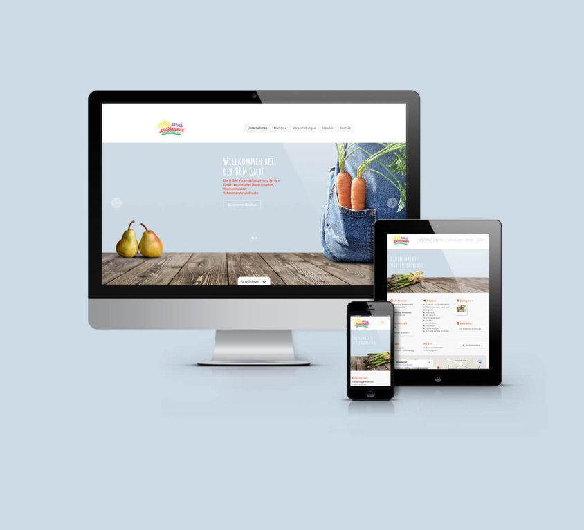 webdesign, grafikdesign für Berlin Brandenburger Bauernmarkt