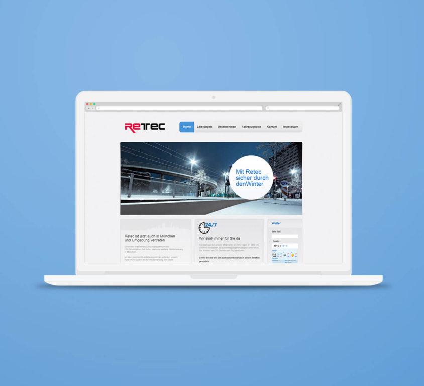 webdesign für retec berlin