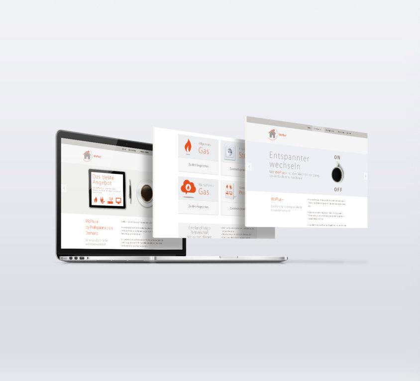 webdesign grafikdesign für woplus